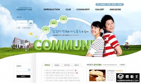 校园生活社区网页模板