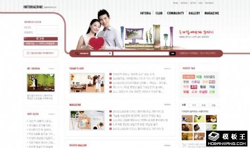 温馨生活社区网页模板
