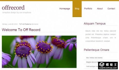 紫色菊花BLOG网页模板