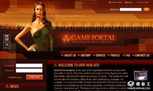 战争游戏介绍网页模板