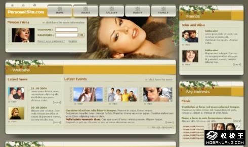 社交信息分享展示网页模板