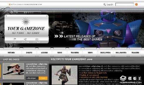 最新游戏动态网页模板