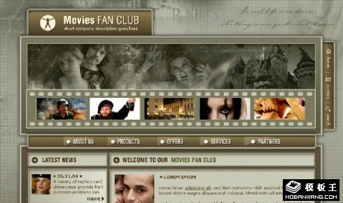 银幕影迷俱乐部网页模板