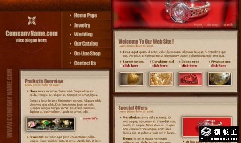 珠宝首饰网页模板下载,网站模板下载_模板王