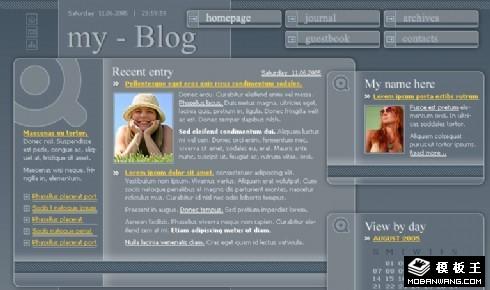简约个人网页设计图片展示