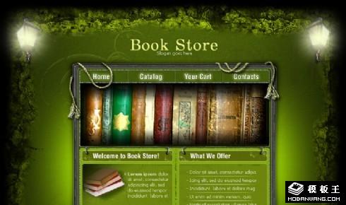 绿色神秘书屋网页模板