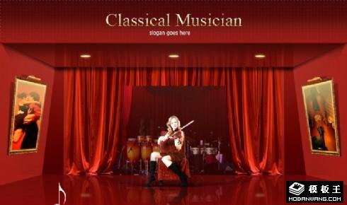 红色古典音乐网页模板