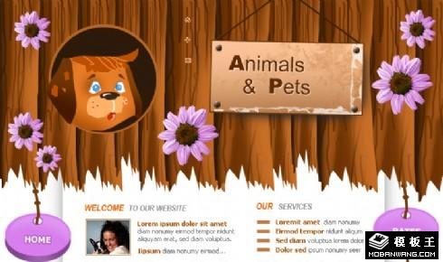 宠物世界网页模板
