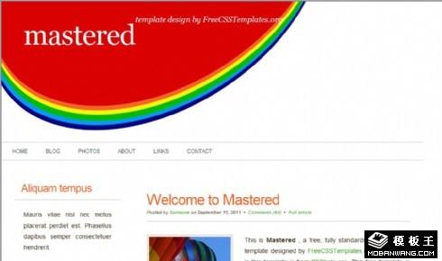 五彩简洁信息网页模板