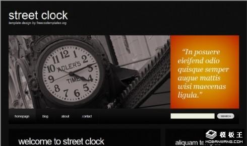 黑色钟楼个人网页模板