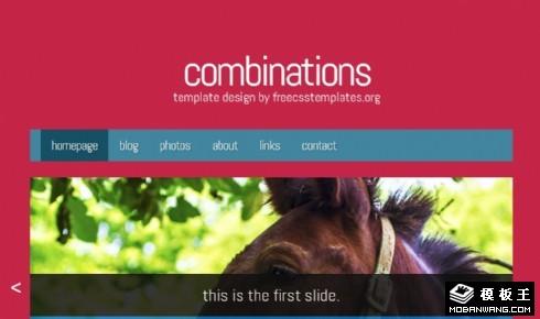 红与黑排列组合网页模板