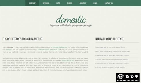 动态服务信息网站模板