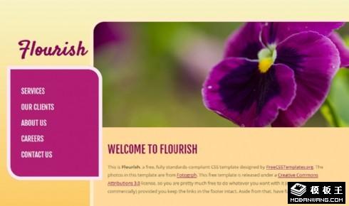 鲜花绽放物语网页模板