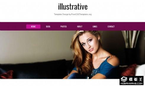 欧美模特个人相册网站模板