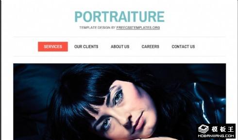 肖像画室介绍网页模板