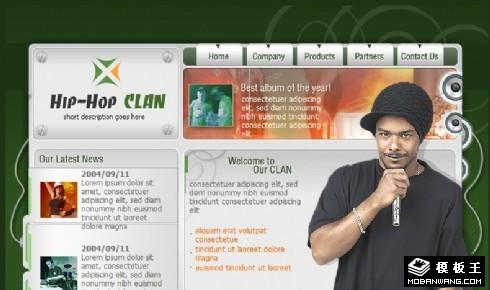 打开麦克风Hip-Hop一族网页模板