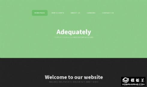浅绿简洁移动网页模板