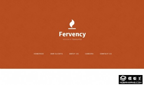热情的橘红手机移动网页模板