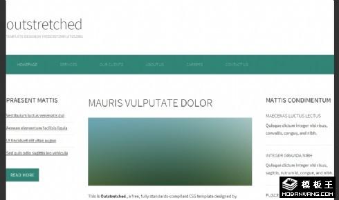 深绿伸展三列网页模板
