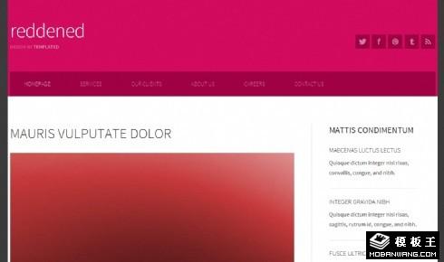 紫红二列信息网页模板