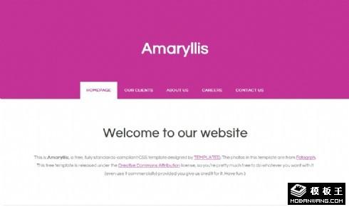 紫色孤挺花网页模板