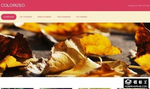 红黄枯叶信息网页模板
