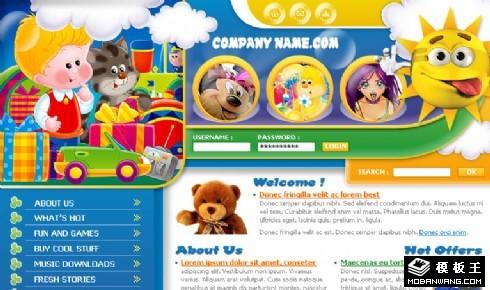 儿童益智产品信息网页模板