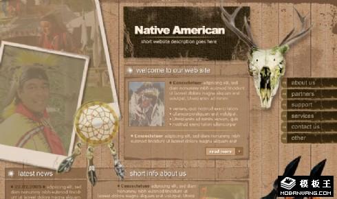 印第安人物品网页模板