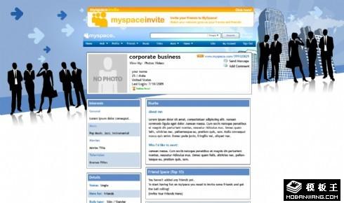 个人商务工作网页模板