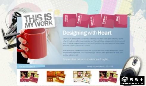 个人创意设计展示网页模板