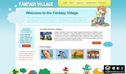 梦幻游乐园网页模板