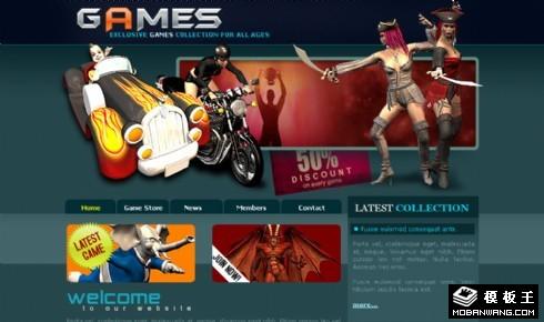 狂热游戏开发网页模板