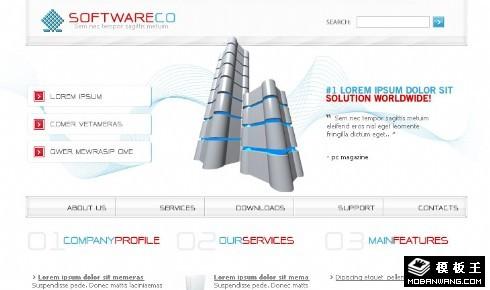 软件服务器网页模板