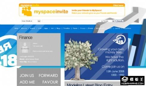 理财投资blog网页模板