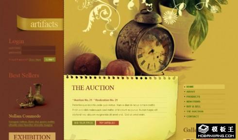 古物怀旧收藏网页模板
