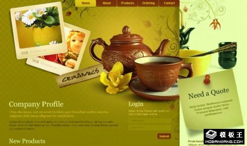 创意瓷器工艺品网页模板