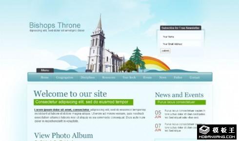 天主教堂介绍网页模板