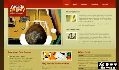 街机游戏产品信息网页模板