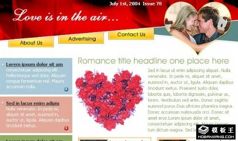 蜜月旅行EDM网页模板
