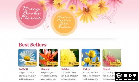 绽放光彩鲜花EMD网页模板
