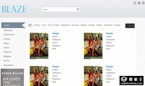 浅灰简洁图文列表网页模板