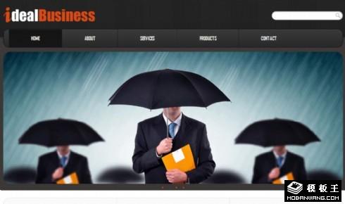 暗灰理想商务动态网页模板