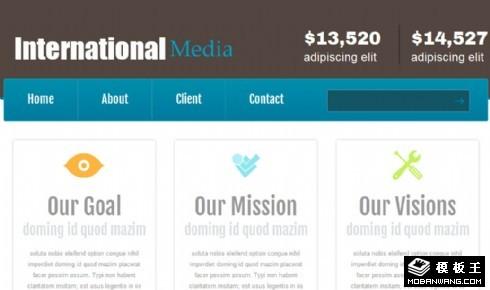 国际广告媒介公司网页模板