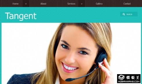 绿色商业管理咨询网页模板