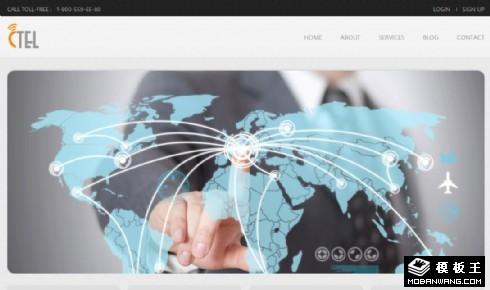 移动网络通信网页模板