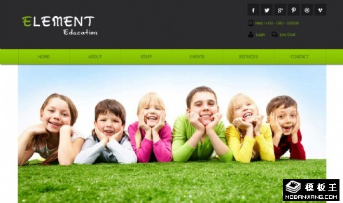 儿童基础教育网页模板
