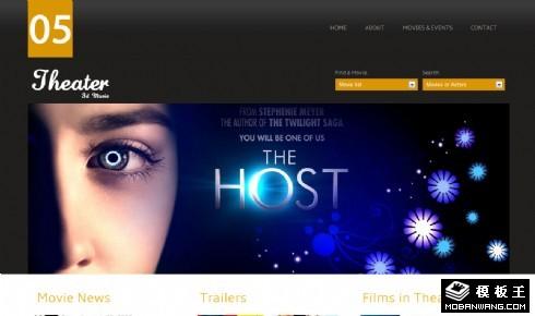 剧场院线预告网页模板