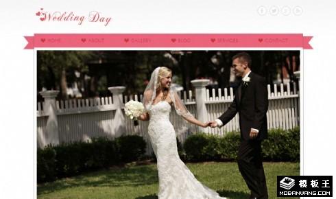 结婚纪念日庆典网页模板