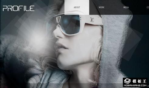 设计师个人作品集网页模板