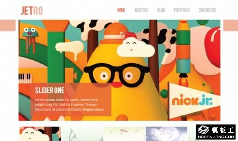 卡通作品信息网页模板